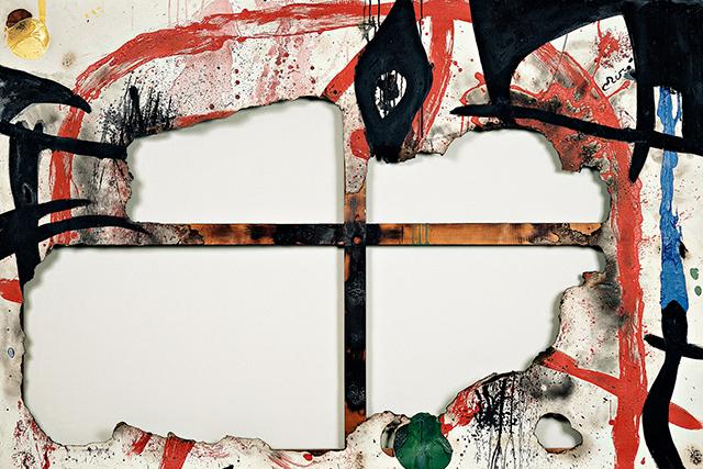 Burnt Canvas 4, December 4–31, 1973, acrylic on burnt canvas, 130 x 195 cm, Fund