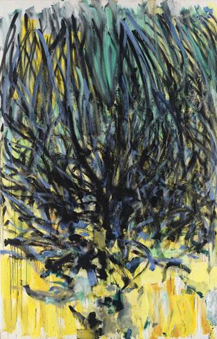 Joan Mitchell, Tilleul (Linden Tree) 1978, oil on canvas, 110 1/4 x 70 7/8 inche