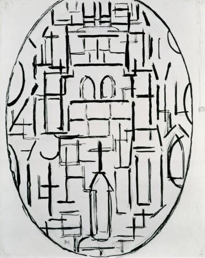 Piet Mondrian, Kirchenfassade 1: Kirche von Domburg, 1914 (courtesy Martin Gropi