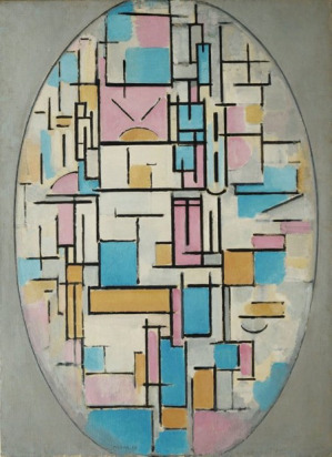 Piet Mondrian, Composition in Oval with Colored Planes, 1914, oil on canvas, 42