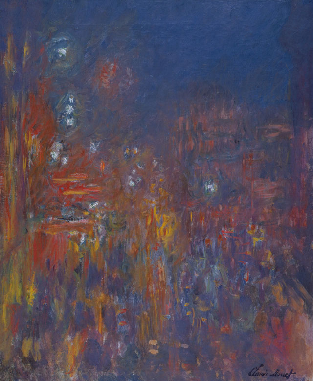 Claude Monet, Leicester Square, 1901, oil paint on canvas, 80.5 x 64.8 cm (Coll. Fondation Jean et Suzanne Planque, in deposit at Musée Granet, Aix-en-Provence, photograph © Luc Chessex)