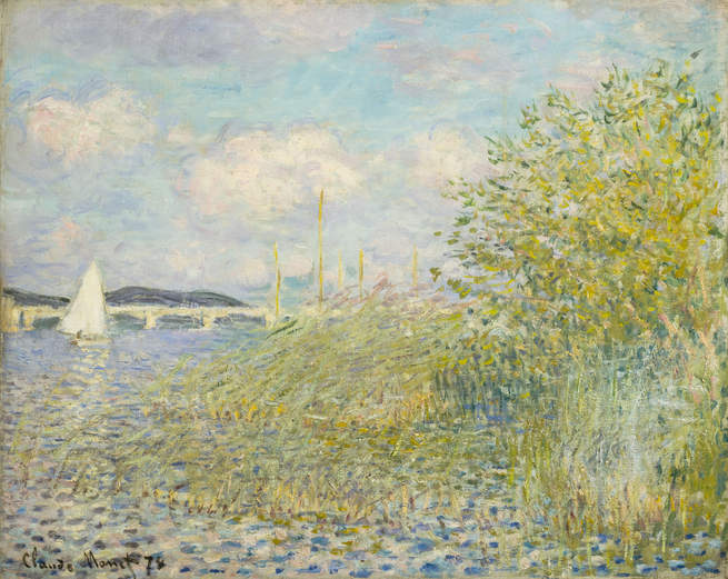 Claude Monet, The Seine at Argenteuil (La Seine á Argenteuil), 1874, Private Col