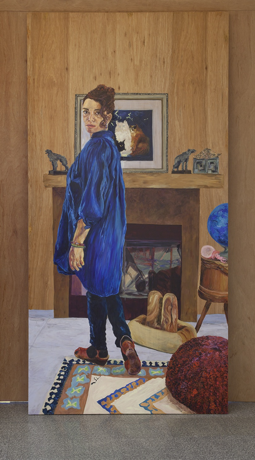 Simone Montemurno, Self-Portrait of the Artist (Mirrored View), 2012-13, oil on
