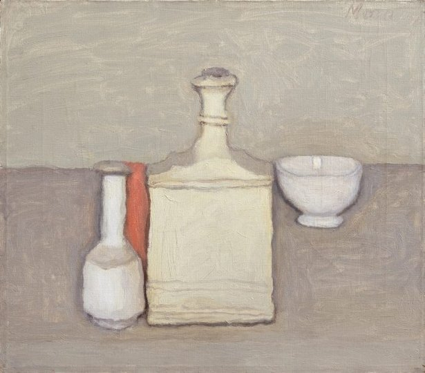 Giorgio Morandi, Natura Morta, 1957, oil, 14 x 16 inches