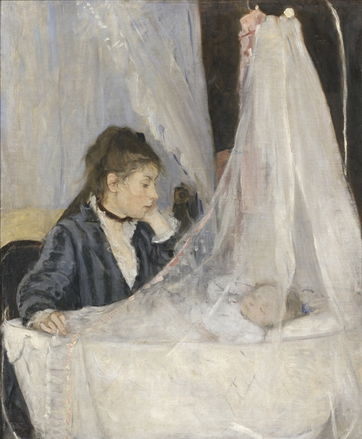 Berthe Morisot, The Cradle, 1872, oil on canvas (Musée d'Orsay, Paris, RF 2849, © Musée d'Orsay, Dist. RMN-Grand Palais / Patrice Schmidt)