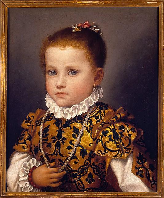 Giovanni Battista Moroni, Portrait of a Little Girl of the Redetti Family, c. 15