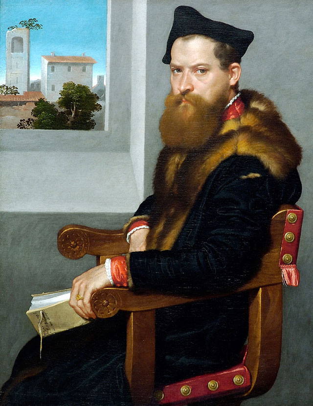 Giovanni Battista Moroni, Bartolommeo Bonghi (shortly after 1553) oil on canvas,
