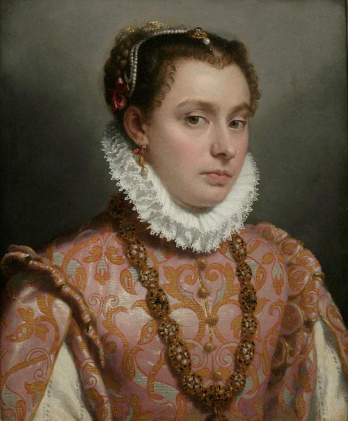 Giovanni Battista Moroni, Young Lady, c. 1560-65, oil on canvas, 51 x 42 cm (Pri