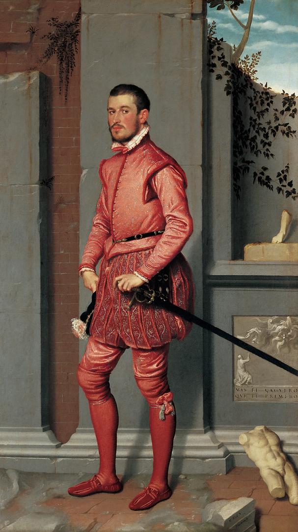 Giovanni Battista Moroni, Gian Gerolamo Grumelli, c. 1560, oil on canvas, 216 x