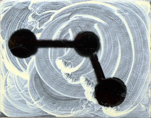Mali Morris, Degrees of Freedom, 2005 acrylic on canvas, 36 x 46cm (courtesy of