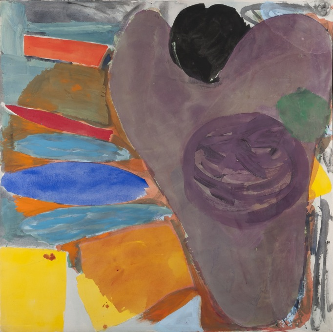 Mali Morris, Purple Heart, 1979, acrylic on canvas, 167 x 165.5 cm (courtesy of