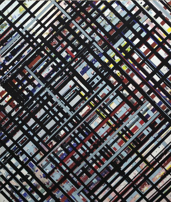 Ed Moses, NY-Trac IV, 1975, acrylic on canvas (courtesy of Cirrus Gallery, Los A