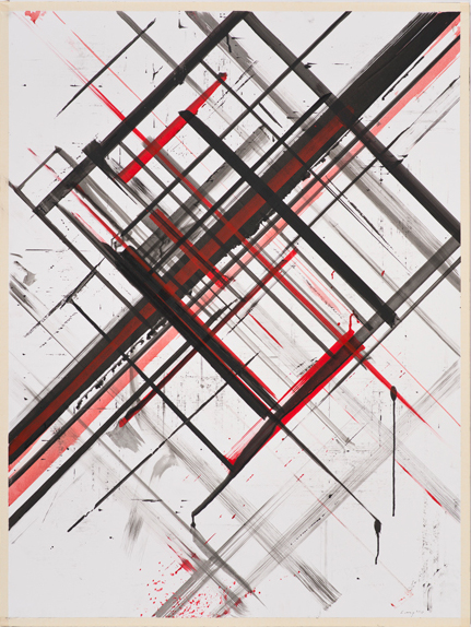 Ed Moses, Untitled 1975-77, acrylic on canvas, 48 x 36 3/16 inches (Los Angeles