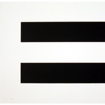 (detail, 1 of a set of 4) Olivier Mosset, Sans titre 2004, lithograph on vellum