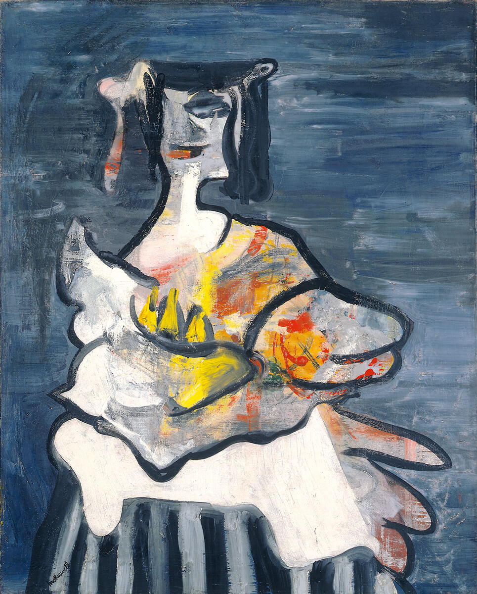 Robert Motherwell, La Belle Mexicaine (Maria), 1941, oil on canvas, 29 1/2 x 23 3/4 inches (© Dedalus Foundation, Inc./ Licensed by VAGA, New York, NY)