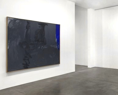 Installation View, Robert Motherwell, Dover Beach No. III, 45 x 107 inches (cour