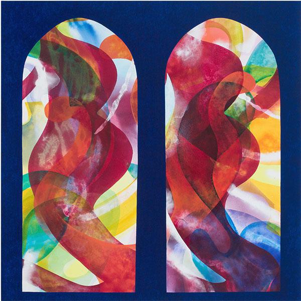 Carrie Moyer, Sala de dos Hermanos, 2015, acrylic and Flashe on canvas, 72 × 72