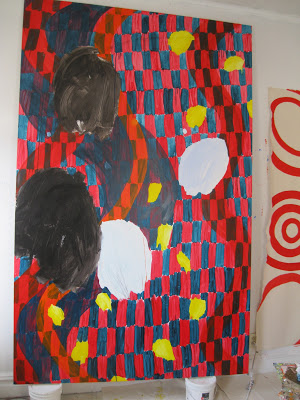 Studio View: Brooke Moyse, Big, acrylic on canvas, 94 x 60 inches (courtesy of t