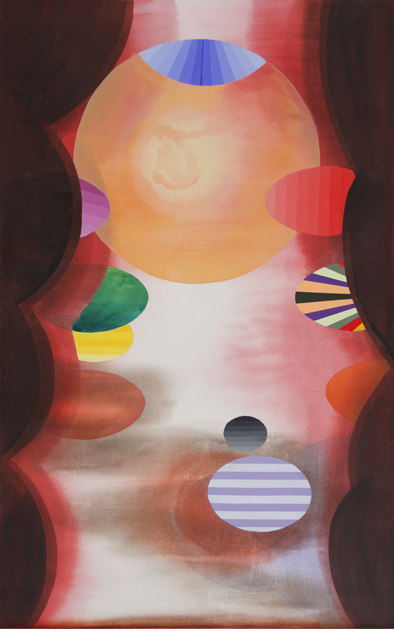 Stephen Mueller, Kabir, 2011, acrylic on canvas, 57 by 36 inches (courtesy of th