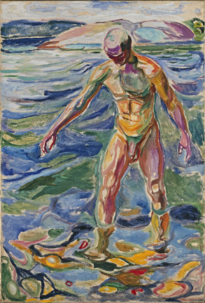 Edvard Munch, Bathing Man, 1918, oil on canvas (The National Museum of Art, Arch
