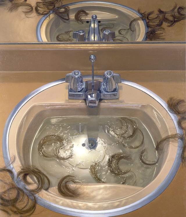 Catherine Murphy, Bathroom Sink, 1994, oil on canvas, 51 1/2 x 44 inches (courte
