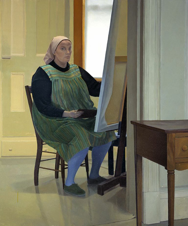 Catherine Murphy, Self Portrait at Easel, 1973 (courtesy of the artist)