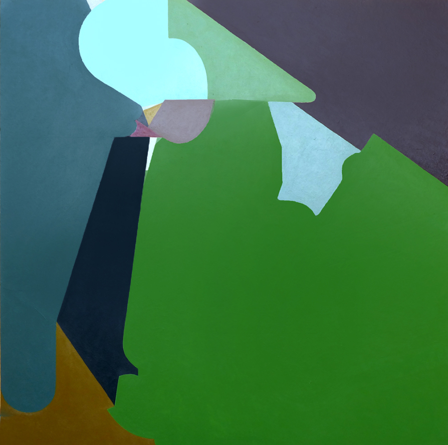 Mario Naves, Reason in the Grass, 2015, acrylic on panel, 28 x 26 inches (courtesy Elizabeth Harris Gallery)