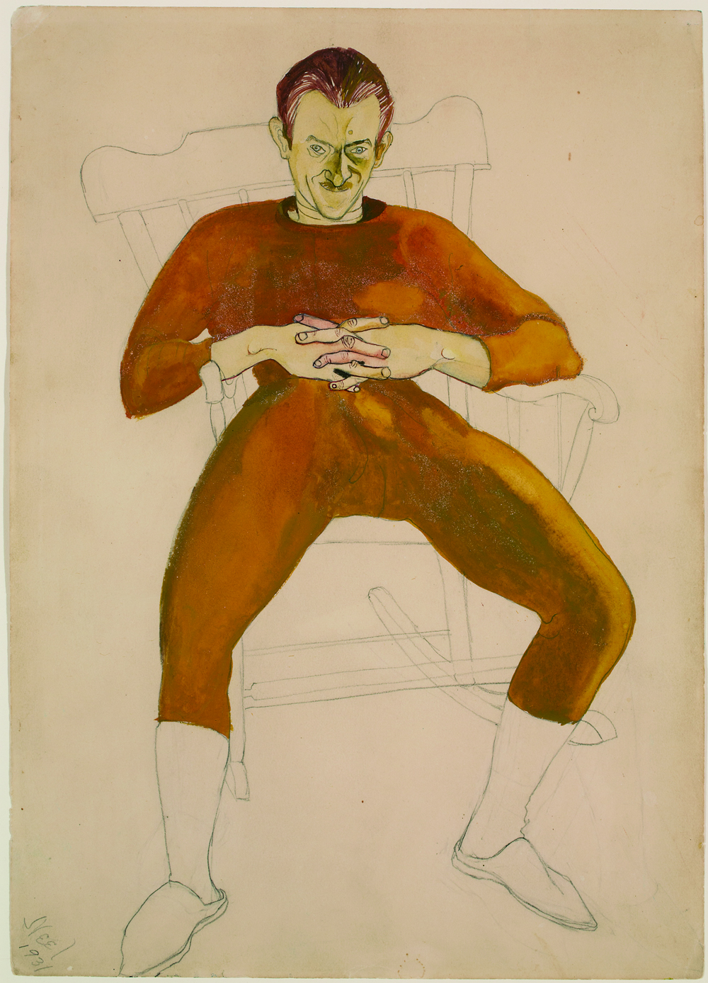 Kenneth Doolittle, 1931, watercolor and pencil on paper, 14 x 10 inches (Hirshho