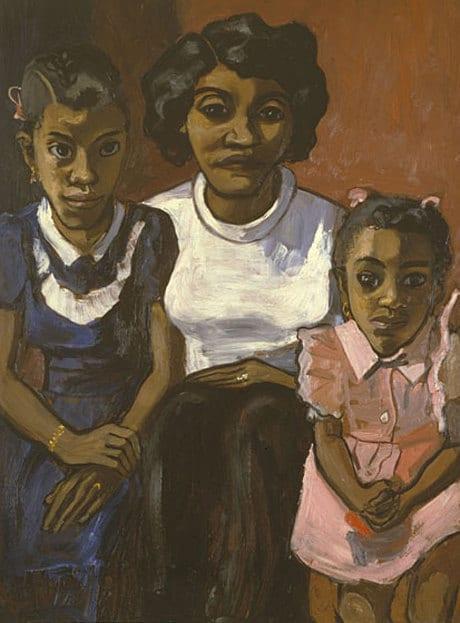Alice Neel, Black Spanish-American Family, 1950 (courtesy of David Zwirner/The Estate of Alice Neel)