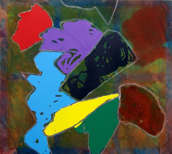 Dona Nelson, Top, 2014, acrylic and acrylic medium on canvas (courtesy of Thomas