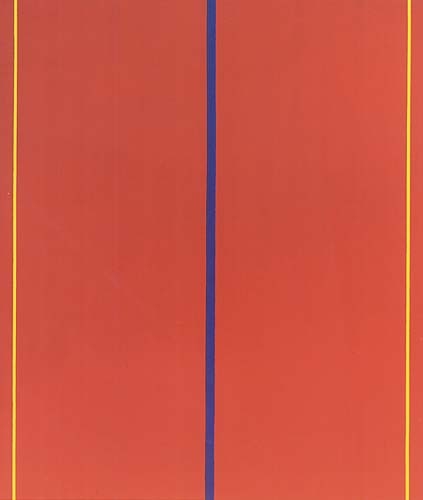 Barnett Newman, Who's Afraid of Red, Yellow and Blue II 1967, acrylic on canvas