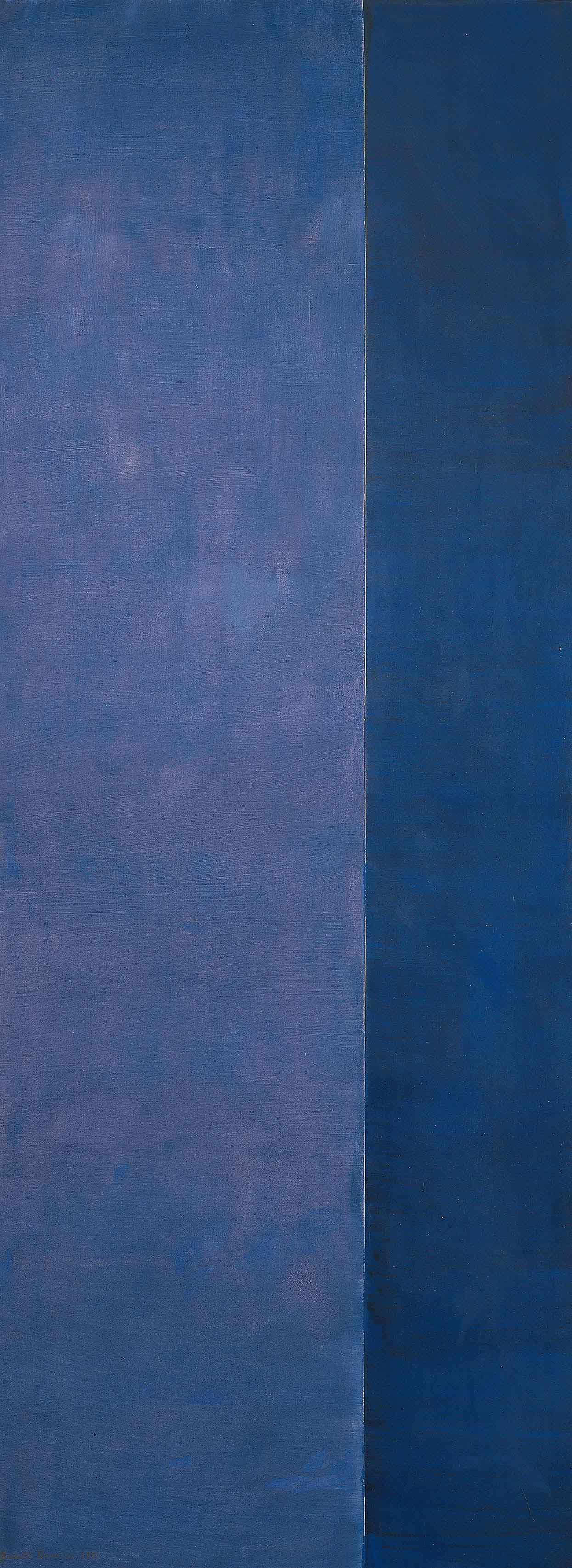 Barnett Newman, Ulysses, 1952, oil on canvas, 132 × 50 inches (© Barnett Newman