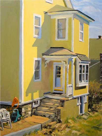 George Nick, Maynard Spring, 26 March 2000, 40 x 40inches, oil on linen