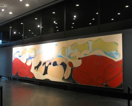 Norman Bluhm, Coney Island Beauty, 1974, installed at 499 Park Avenue (courtesy