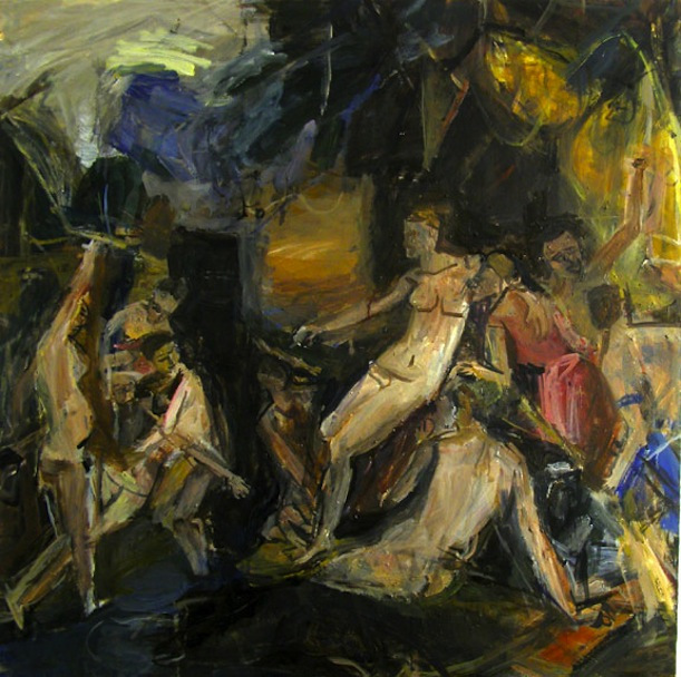Janice Nowinski, Diana and Callisto (After Titian), 36 x 36, oil on canvas, 2008