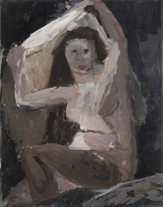 Janice Nowinski, Figure Revealed, 2016, oil on canvas, 14 x 11 inches (courtesy of John Davis Gallery)