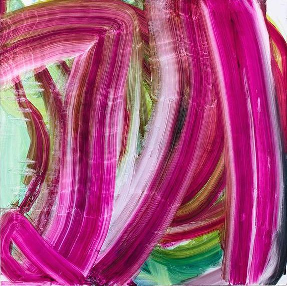 Fran O'Neill, shimmer, 75 x 75 inches, oil on canvas, 2014 (courtesy of Life on