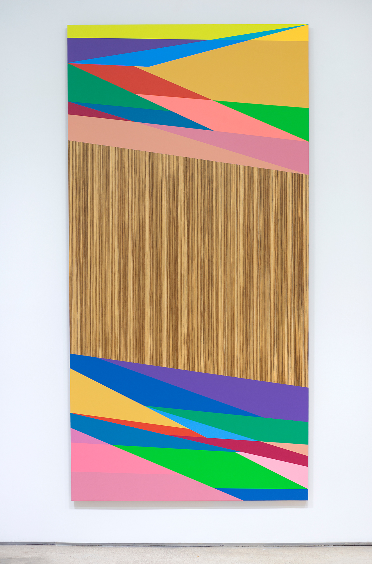 Odili Donald Odita, Distant Relative, 2015, acrylic latex on panel, 96 x 48 inch