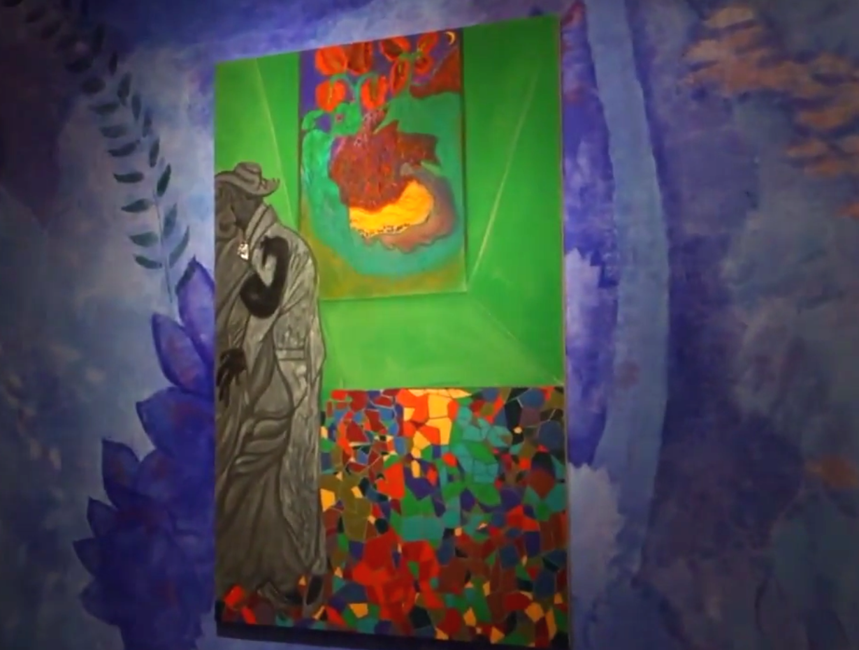 Installation view: Chris Ofili: Night and Day at The New Museum (screen capture: