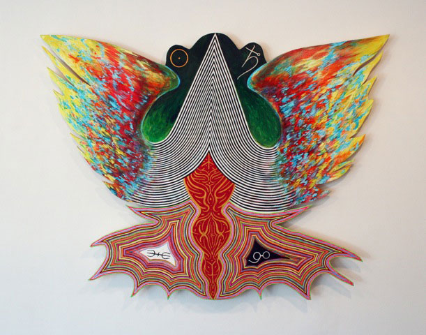 Craig Olson, Source, 1, 2012, Acrylic on wood, 36 x 47 inches (photo: Hyperaller