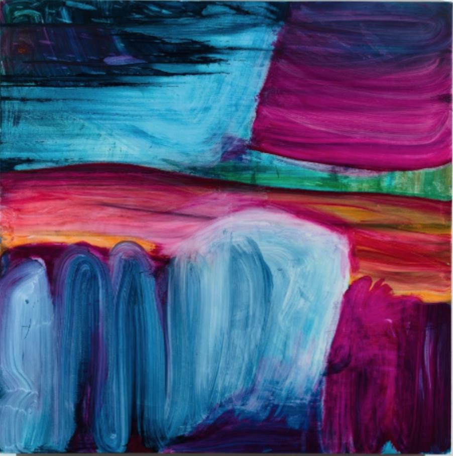 Fran O'Neill, cutting through, 70 x 70 inches, oil on canvas, 2014 (courtesy of