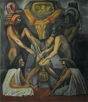 José Clemente Orozco, Ancient Human Sacrifice, The Epic of American Civilization