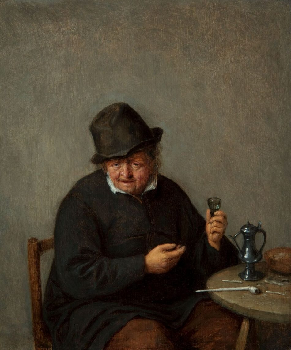 Adriaen van Ostade, An Old Toper, about 1660–65, oil on panel (Taft Museum of Art)