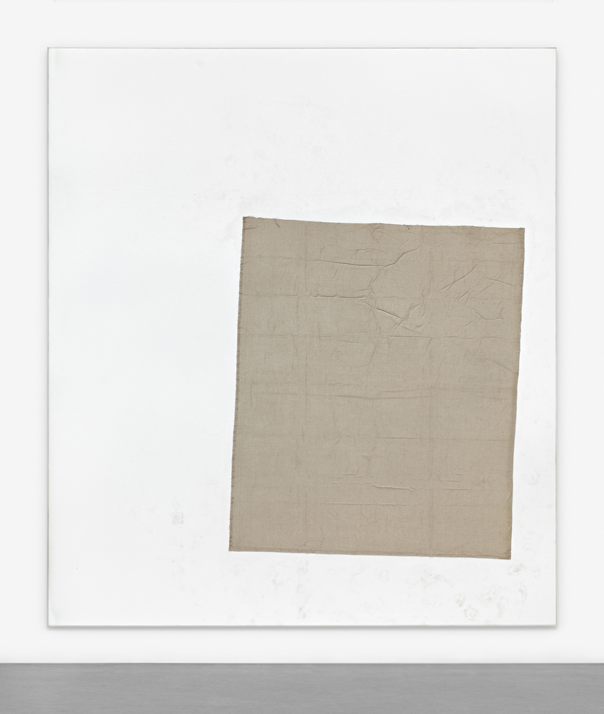 David Ostrowski. F (I want to die forever), 2014, linen on canvas, wood, 157.48