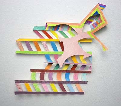 Alex Paik, Prelude and Fugue (Cutouts), gouache, marker, colored pencil, paper,