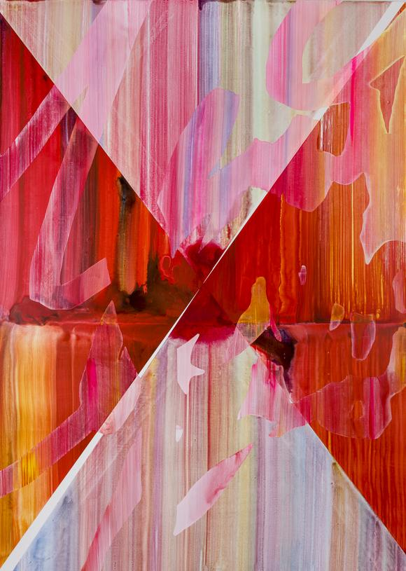 Nathan Pankratz, Wish You Were Her, 2015, water based medium on canvas, 84 x 60