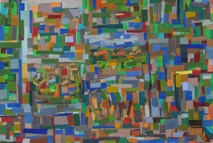 Hearne Pardee, Blue Window, acrylic on paper, 25 x 38 inches, 2012 (courtesy of