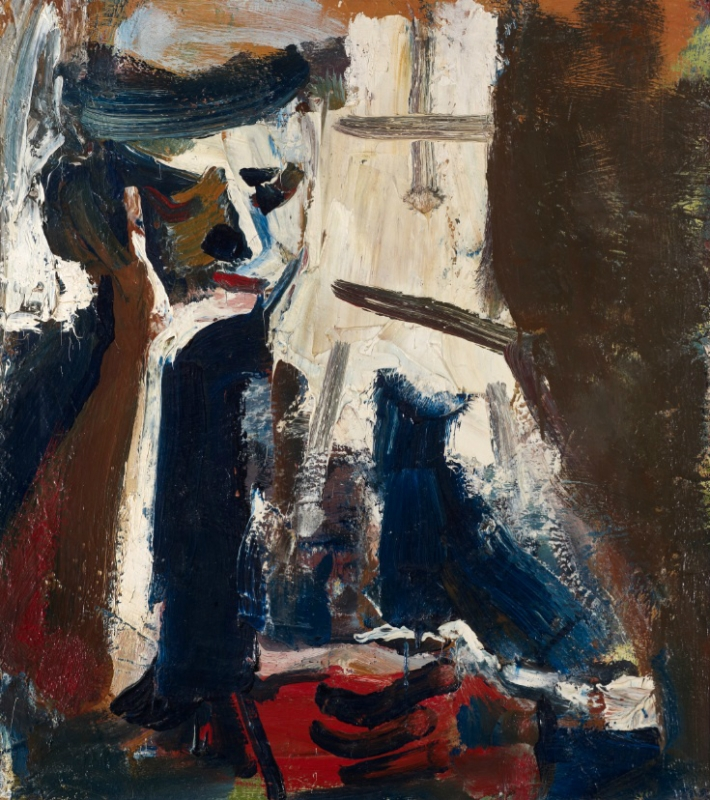 David Park, Woman Reading, 1958, oil on canvas, 44 × 38 1/2 inches (courtesy of
