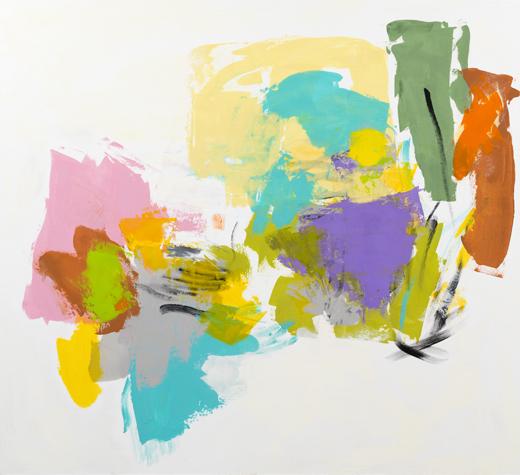 Carolanna Parlato, Beckon, 2015, acrylic and molding paste on canvas, 66 × 72 in