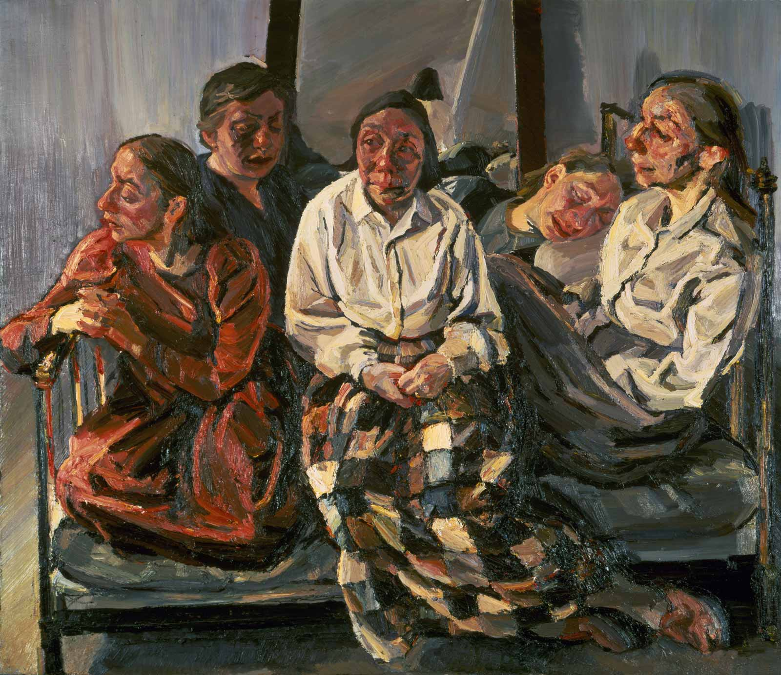 Celia Paul, Family Group, 1984–1986 (courtesy of the artist and Victoria Miro Gallery)